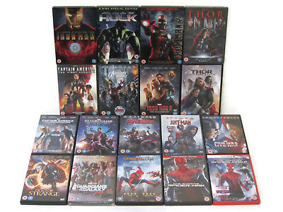 Marvel DVD Collection Phase 1 & 2 MCU 18 Films Avengers, Thor, Doctor Strange