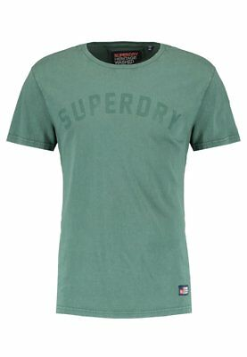 Superdry Men's Heritage Wash T-Shirt Tee In Oxford Green // Bnwt, Rrp £25