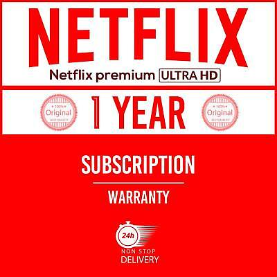 Netflx premium ULTRA HD 4Screen private account 1 year Subscription Worldwide✔
