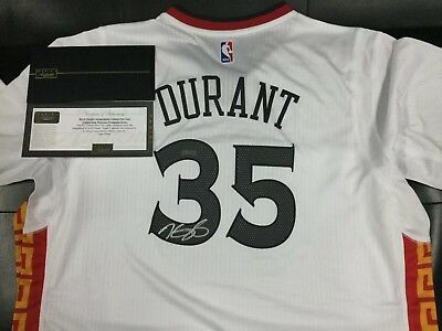 652bc5785 PANINI Authentic COA Kevin Durant Autograph Chinese New Year Jersey Auto  Warrior