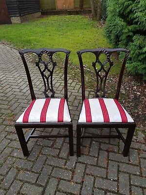 Pair of Mid / Late 18th Century Dining Chairs Marius Goring Scarlett Pimpernel