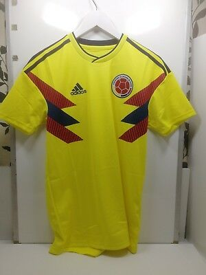 online store 0cb18 3d130 adidas Mens Colombia 18-19 Home Football Shirt Yellow  Navy small ref B6