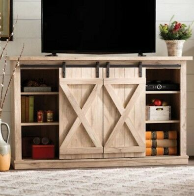 54 Inch Tv Stand Rustic Entertainment Center Farmhouse Barn Door