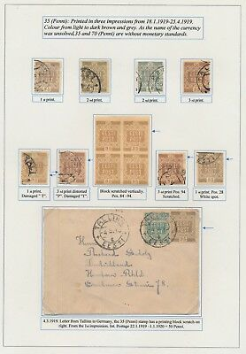 Estonia. 1919. 35 k. Flower issue. From EXHIBITION COLLECTION