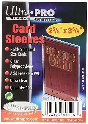 Ultra Pro 100 Pcs Soft Card Sleeves, 2 5/8 x 3 5/8-Inches