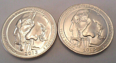2013 P & D Mount Rushmore National Park Quarter Set (2 Coins)  **FREE SHIPPING**