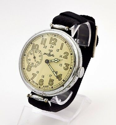 1940 Kirovskie military commander USSR WWII watch, Swinging lugs 2 watch factory