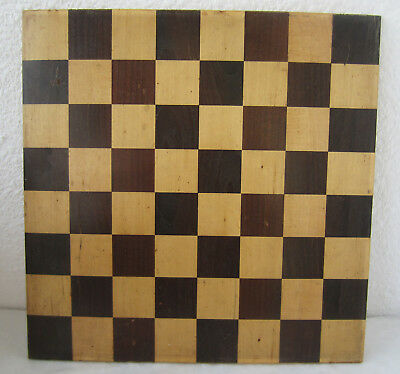 """13+""""   Antique Vintage wooden chess Checkerboard Game, two-sided board"""
