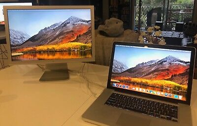 "Apple MacBook Pro A1286 15.4"" Core I7 2.2Ghz, 480 SSD,16GB  & Cinema Display 20"""