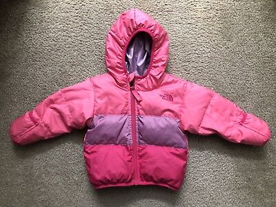 5f341a1b4 BABY GIRLS THE NORTH FACE 550 Goose Down Jacket Infant Size 0-3M ...
