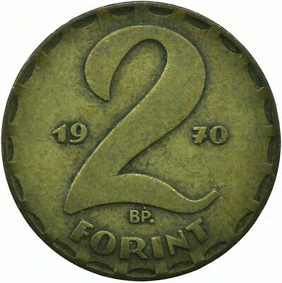 1970-1989 2 Forint Communist Era Hungary  Choose Your Date! One Coin/Buy!