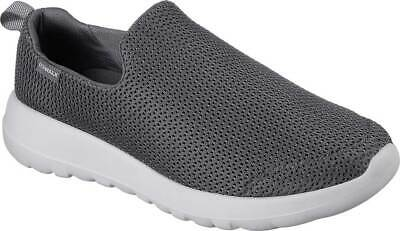 7b88dc5aa71 NEW Mens Skechers GOwalk MAX Charcoal Grey White Slip On Walking Shoes  AUTHENTIC