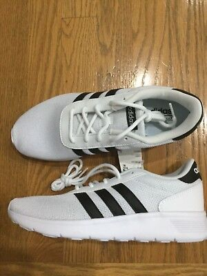 NIB Adidas Lite Racer running shoes sneakers white black ortholite foam Sz  8 NEW bf00c246d