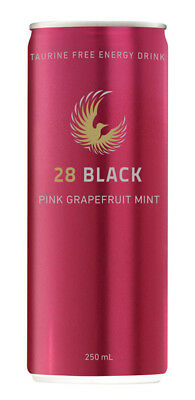 28 Black Energy Drink - Pink Grapefruit Mint (12 x 250ml Cans in a Display Unit)