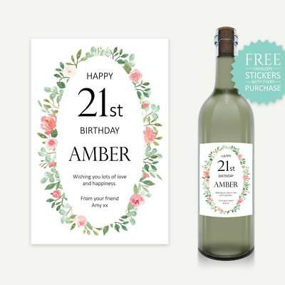 Personalised Wine Label Choose Birthday, Engagement, Bridesmaid, Save The Date