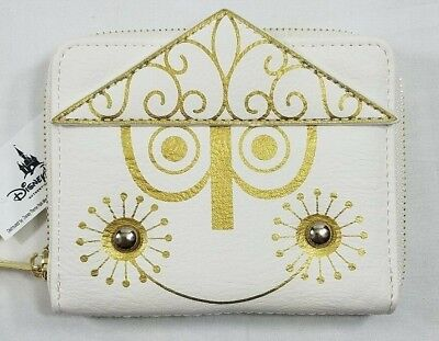 Disney Parks Loungefly Its a Small World Clock Attraction Face White Gold Wallet