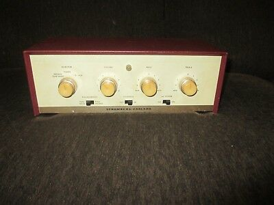 Very Nice Series 101 Stromberg Carlson 6BQ5 Mono Integrated Tube Amp HiFi Looker