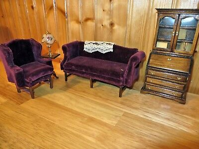 Miniature Furniture Victorian Style Library Set 1/12