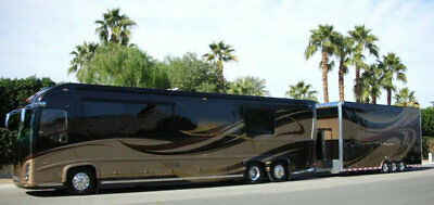 Florida One Owner 2008 45FT Newell Luxury Coach Matching 26` Stacker Trailer RV