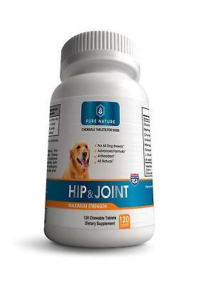 Advanced Hip & Joint Supplement for Dogs, All Natural, Made in the USA