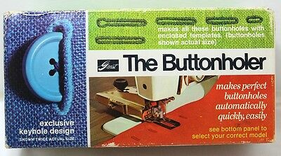 Vintage The Buttonholer By Greist Exclusive Keyhole Design For Sewing Machines