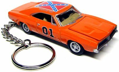 keychain 1969 Dodge Charger General Lee key chain Dukes of Hazzard model