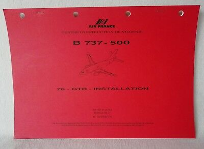 Document AIR FRANCE Centre d'instruction de Vilgenis B 737-500 INSTALLATION 49P