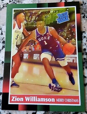 ZION WILLIAMSON 2017 Rated Rookie Card RC 1988 Donruss Style Duke $$ HOT $$