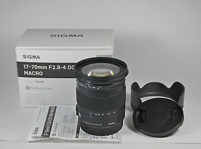 SIGMA 17-70mm f2.8-4 DC HSM OS MACRO  'Contemporary' Lens for CANON. Excellent .