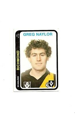SCANLENS 1979 VFL/AFL FOOTBALL CARD #126 G.Naylor  MINT (Richmond Tigers)