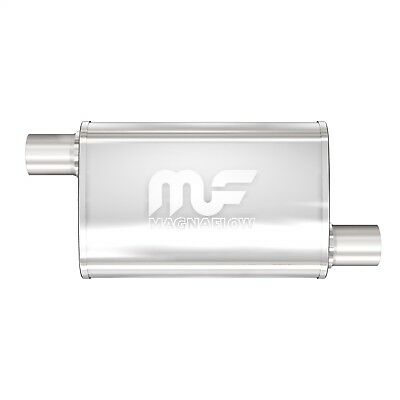 MagnaFlow #11133 Stainless Steel Muffler 14In Body  1-3//4In O//O