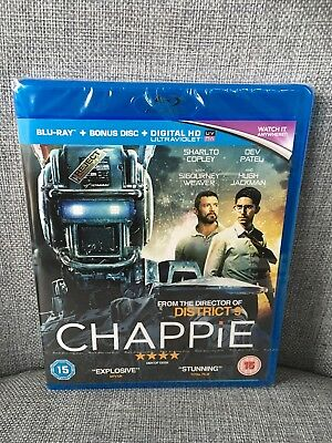 Chappie NEW BLU-RAY 2 Discs. New & Sealed -Hugh Jackman - Sigourney Weaver.