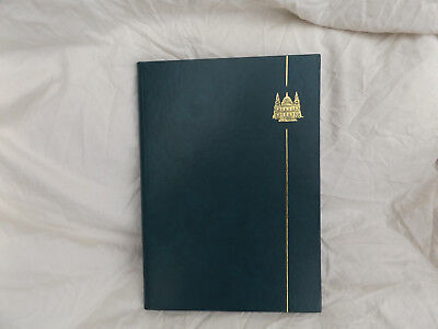 Fe194 Used Green Rapkin Stockbook Stamp Album 8 Pages 16 Sides 9 Strip