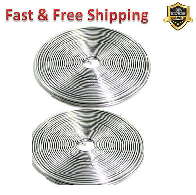 Armature Wire 1/16 X 32 Ft Aluminum Weaving Looms Non Corrosive Staining 2 Pack