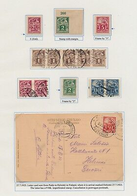 Estonia. 1922/28. Weaver and Smith issue. Page from EXHIBITION COLLECTION