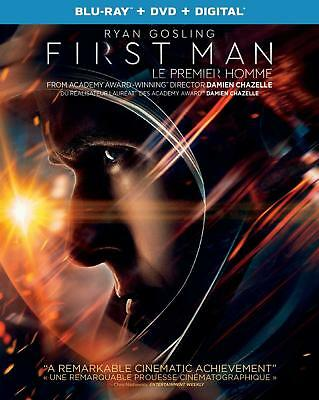FIRST MAN ( RYAN GOSLING) BLU RAY DVD DIGITAL Slipcover 2019 BRAND NEW STEF-15