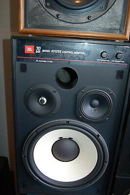 JBL 4312A 3 Way Control monitor Wood cabinet Without speakers stands