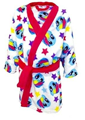 New Girls My Little Pony Super Soft Fleece Robe White Size 4-5 Years
