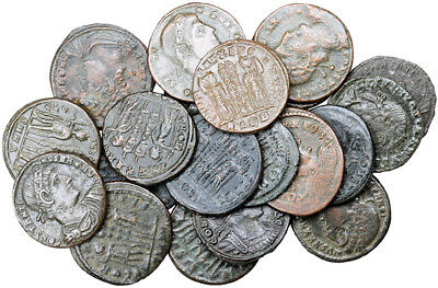 FORVM Lot of 20 VF Constantine Dynasty Bronze Coins Soldiers and Standards Rev