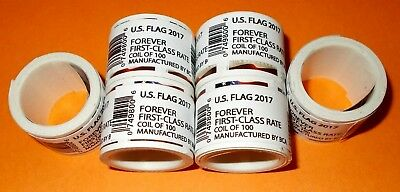 100 USPS Forever Postage Stamps ( 1 roll US FLAG 2017 )