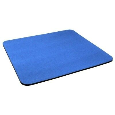 Blue Fabric Mouse Mat Pad High Quality 5mm Thick Non Slip Foam 24 x 19 cm