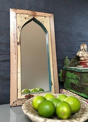 Antique/vintage Indian Temple Mirror. Art Deco. Mocca & Cappuccino, Mughal Arch.