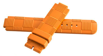 Louis Vuitton Women's 21mm x 21mm Orange Rubber Watch Band Strap