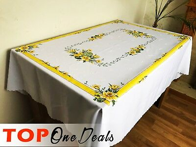 Amazing Easter Tablecloths Table Runner  with Glitter Egg Chick Yellow Grey