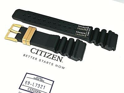 31afb0c9f58 Citizen Aqualand JH0004-01E Original 24mm Black Rubber dIVE Watch Band Strap