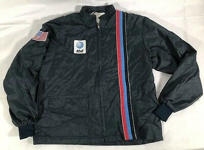VTG 80's AT&T Racing Jacket Great Lakes Sportswear Made USA