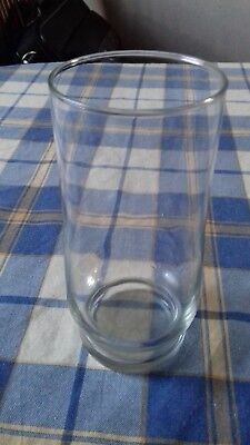 Clear, Glass Vase (used, 150mm x 66mm, 193g)