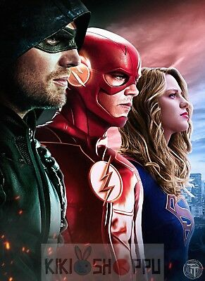 Poster A3 Arrow The Flash Supergirl Hero DC Comic Serie Cartel 01