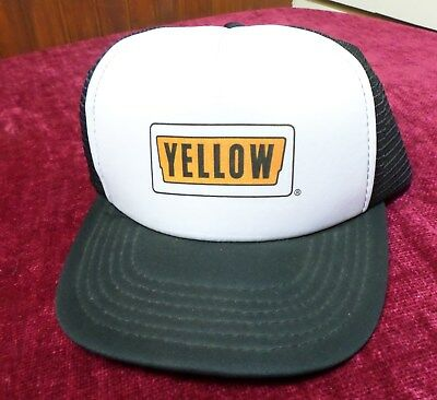 Vintage YELLOW Cab Mesh Snapback Trucker Hat Patch Made In USA ac6d6f244f09