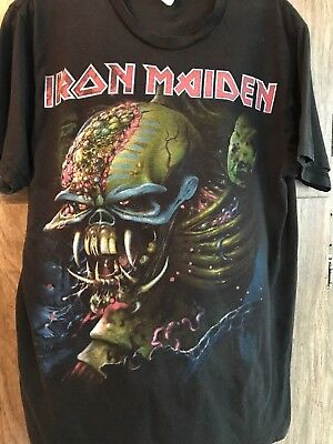 Iron Maiden The Final Frontier 2010 Concert TShirt Large thrashed faded RARE 2d6f2545b